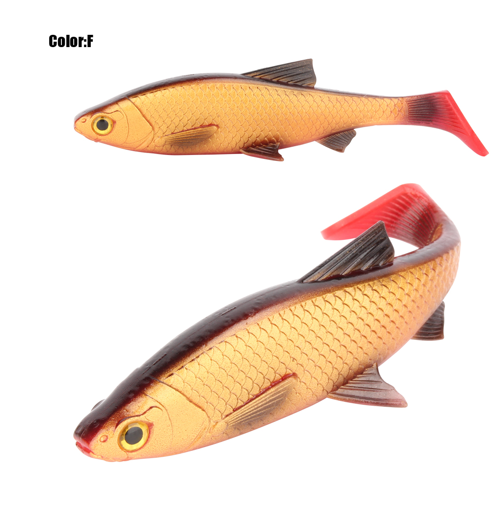 RoseWood 5g 10g 20g 40g 3D Soft bait fishing lure Silicone Shad plastic lures Roach Paddle Tail 3D scanned Lively kicking action  (1)