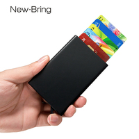 NewBring RFID Blocking Unisex Small Credit Card ID Holders Man Business Card Holder Wallet Man