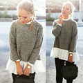 Women Fashion Brand New Stand Collar Loose Long Sleeve Casual Pullover Sweater Shirt Coat Jacket