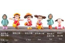 5pcs/lot xiao mei mini People Women fairy garden crafts home decor