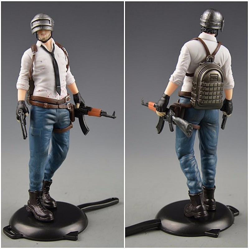 Playerunknowns Battlegrounds  PUBG Around 6 inch doll figure spot to eat chicken tonight Metal Fashion Car Weapon model 12Style 2