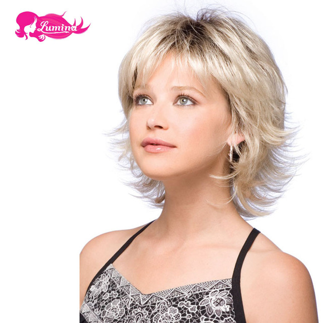 Cheap Wigs Synthetic For Black Women Hairstyles Short Hair Wig ...