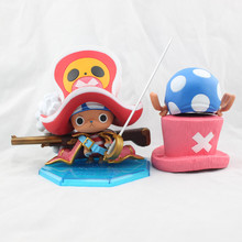 Free Shipping One Piece Action Figures High Quality 12CM Tony Tony Chopper POP PVC Toys One Piece Dolls For Kids