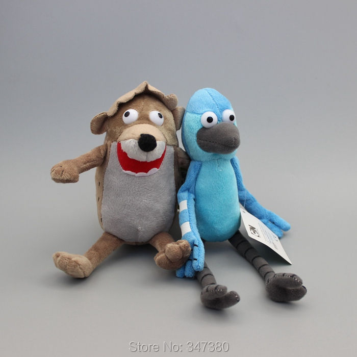2 Pcs/Set Regular Show Plush  Doll Toy Lovely Mini Pet Dog Soft Stuffed Toys Kids Gift