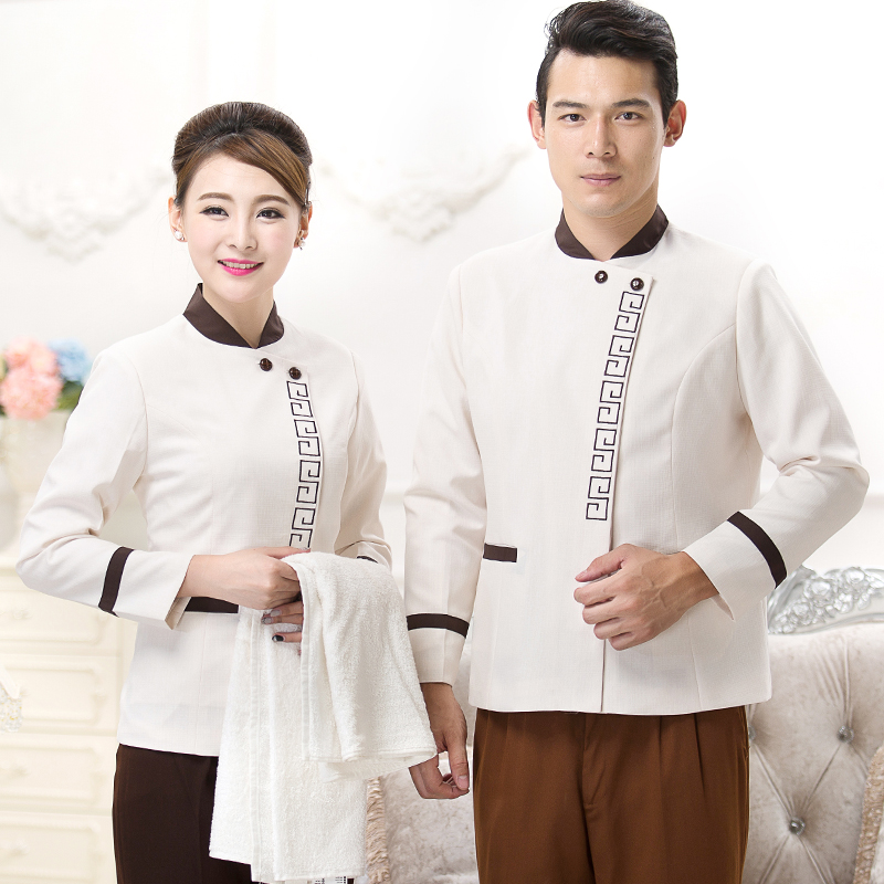 Hotel Uniform Autumn Winter Female Cleaning Long Sleeved Clothing Service Room work suit J035
