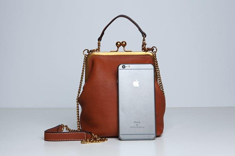 2019 new vintage bag women's handbags leather PU chain shoulder crossbody bags (7)