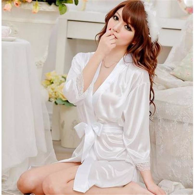 Purple Robe Bride Sleepwear Bridal Dress nightwear Women Bathrobe Nightdress Home Clothes Nightgown negligees pyjamas shirt