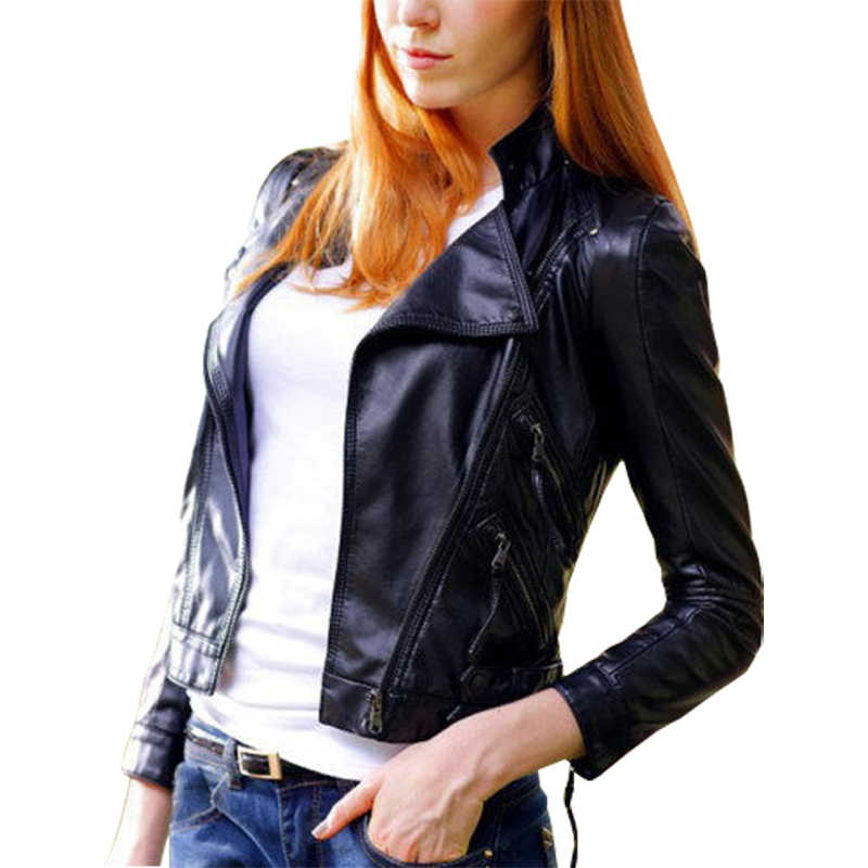 Europe America leather jacket short new Aliexpress Slim coats cardigan shirt zipper small coat women clothing vestidos LBD7181
