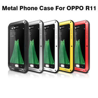 2017 R11 CellPhone Case Love Mei Shockproof Life Waterproof Powerful Aluminum Gorilla Glass Metal Cover For