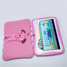 Sale!Glavey 7 inch AllWinner A33 Q88pro Children Tablet PC Android 4.4 512MB+8G Quad core crash proof gift colorful kids tablets