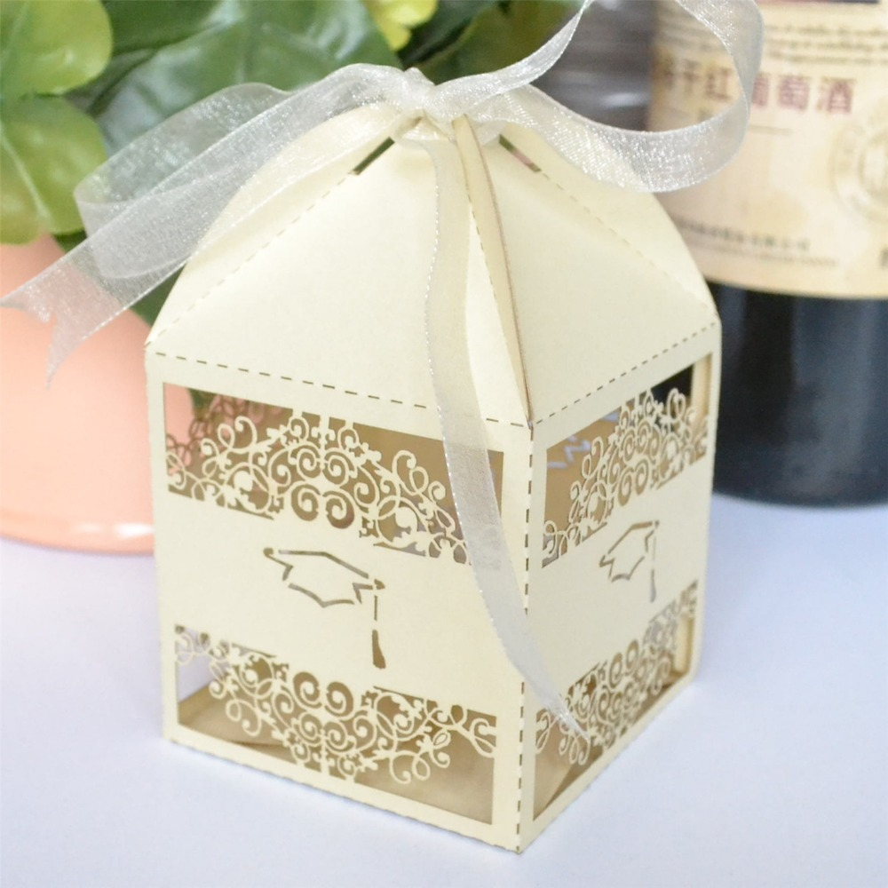 Laser Cut Candy boxes/Chocolate Box Graduation Favor Boxes,50pcs/lot ...