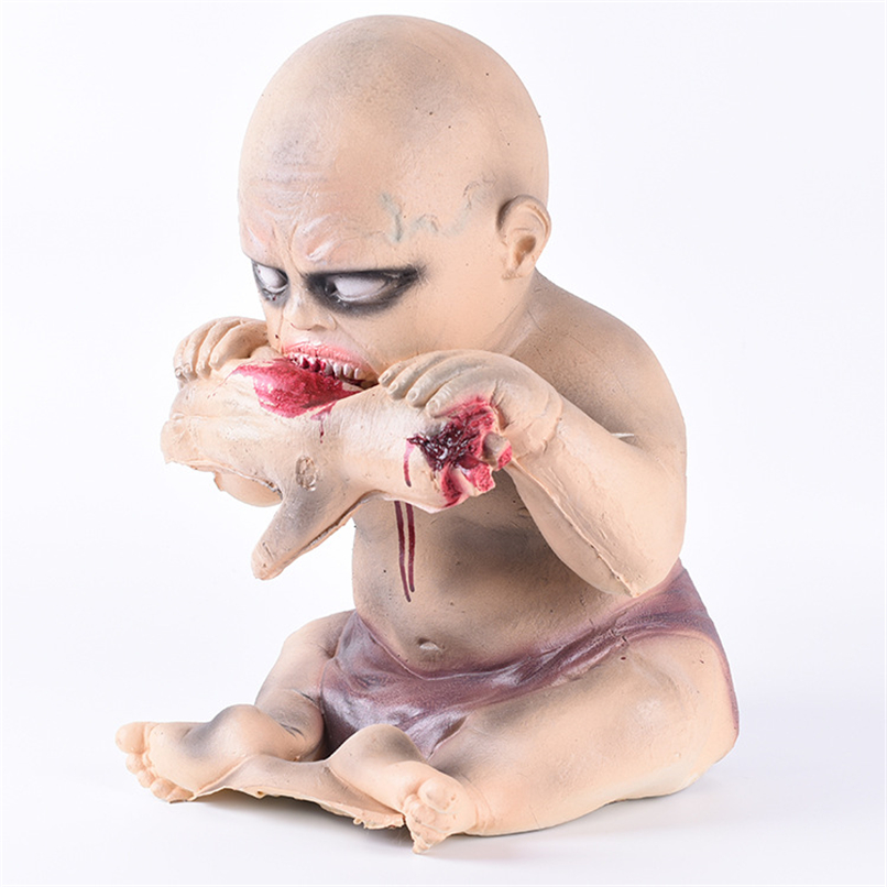 Sanglante Halloween décoration sanglante poupée fantasmagorique Halloween accessoires pour porte Bar Ktv hantée horreur enfant fantôme manger main fantôme