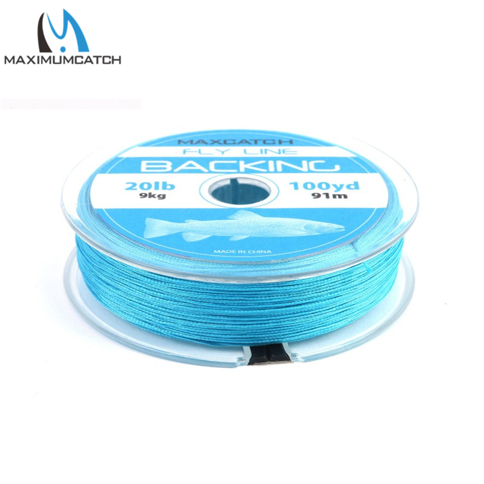 Maximumcatch Backing Fly Line 50/100/300 metrów 20 / 30LB Double Color Backing Line Pleciony Fly Fishing Line
