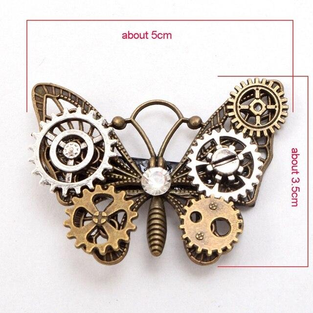 Заколка стимпанк бабочка 3