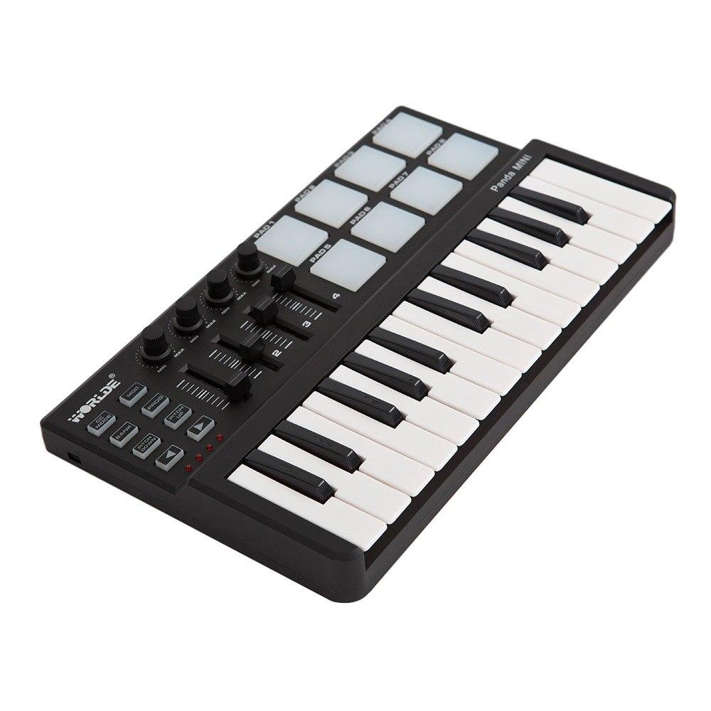 Worlde Panda Mini MIDI Keyboard Portable 25 Key USB Keyboard MIDI Controller Keyboard and Drum Pad