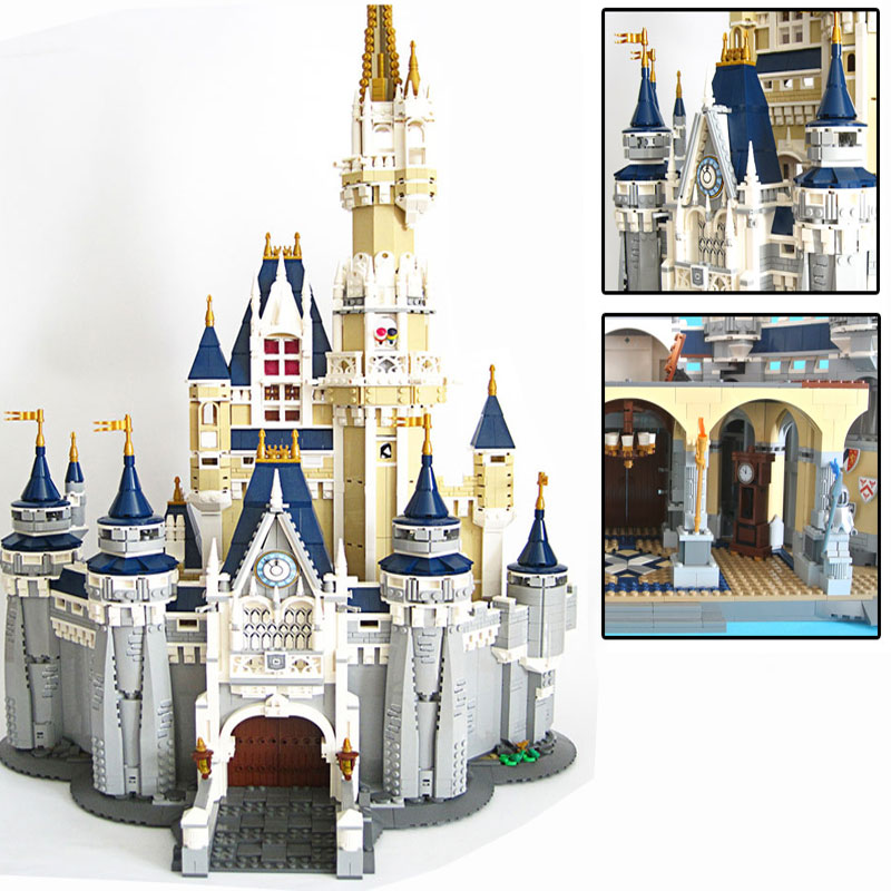 LEPIN16008 4080pcs  Cinderella Princess Castle City set Model Building Block DIY Compatible Toys child Birthday Christmas Gifts lepin 16008 creator cinderella princess castle city 4080pcs model building block kid toy gift compatible 71040