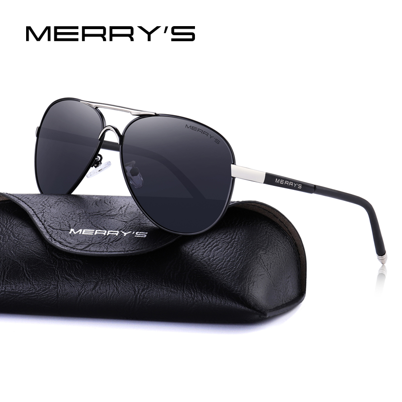 MERRYS Men Classic Pilot Sunglasses HD Polarized Aluminum Driving - Accesorios para la ropa - foto 5