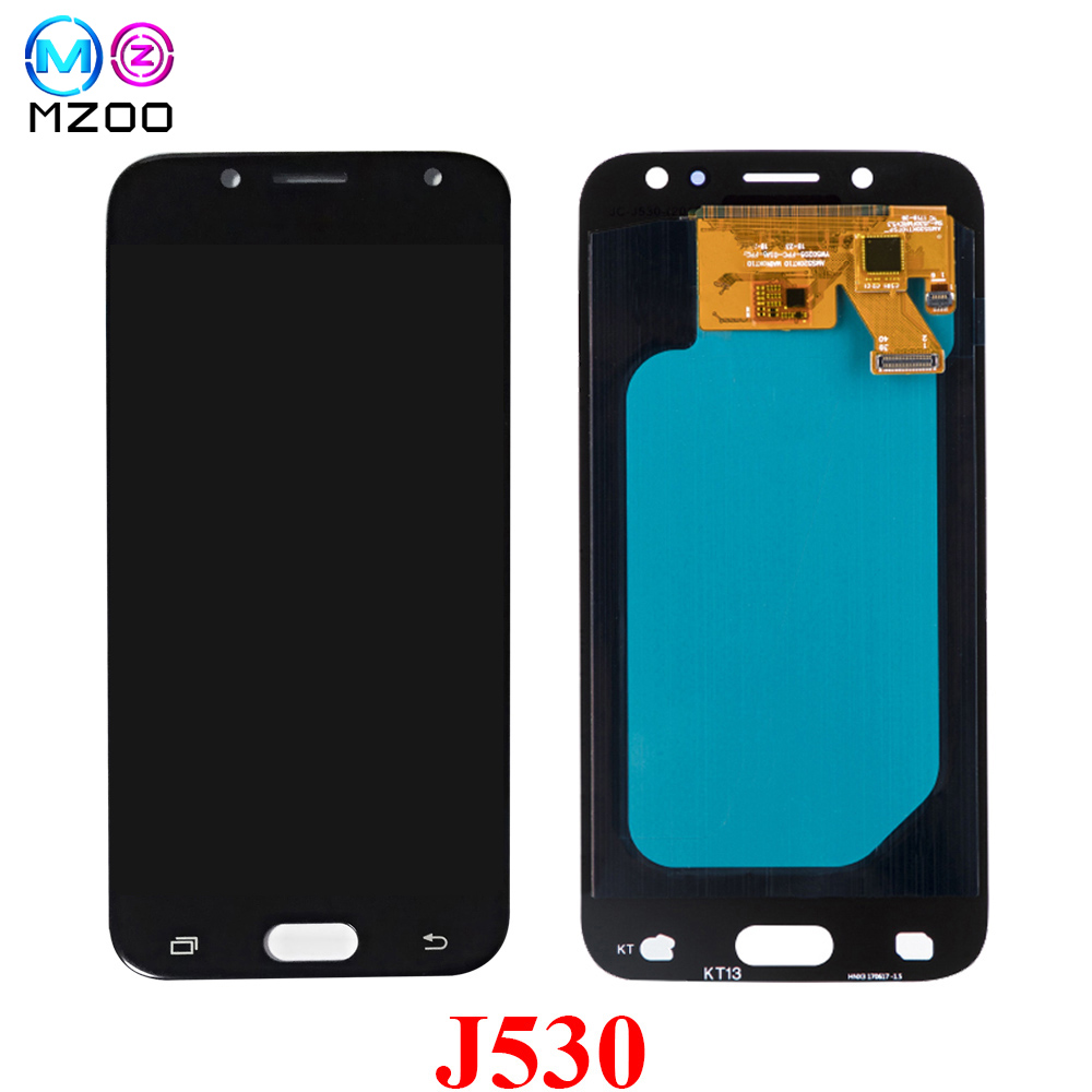 100% Super Amoled <font><b>LCD</b></font> For Samsung Galaxy <font><b>J5</b></font> <font><b>Pro</b></font> 2017 J530 J530F J530FM <font><b>LCD</b></font> Display Touch Screen Digitizer Assembly Replace Parts image