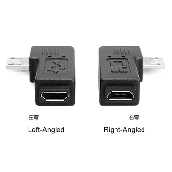 10pcs/lot  Micro USB 2.0 5P Male to Female M F Extension Adapter 90 Degree Left Angled hdmi v1 4 m f 90 degree connector extension joint