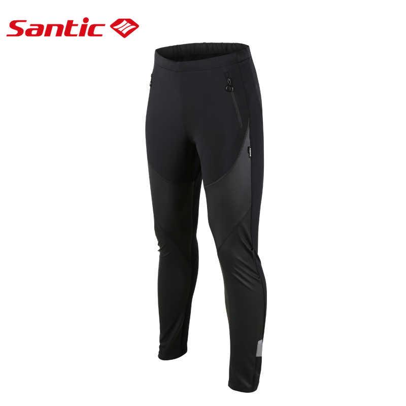Santic Pantalon Cycliste Homme Hiver Long Cyclisme Velo Sport dhiver Coupe Vent