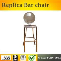 Бесплатная доставка U-BEST Реплика дизайнерской мебели к-Онг барный стул из нержавеющей стали, современная металлическая оправа легко