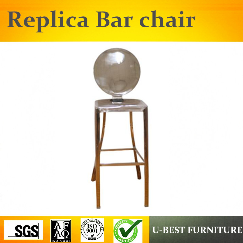 Free Shipping U-BEST Replica Designer Furniture K-ong Stainless Steel Barstool, Modern Metal Frame Easy Brushed Bar Chair