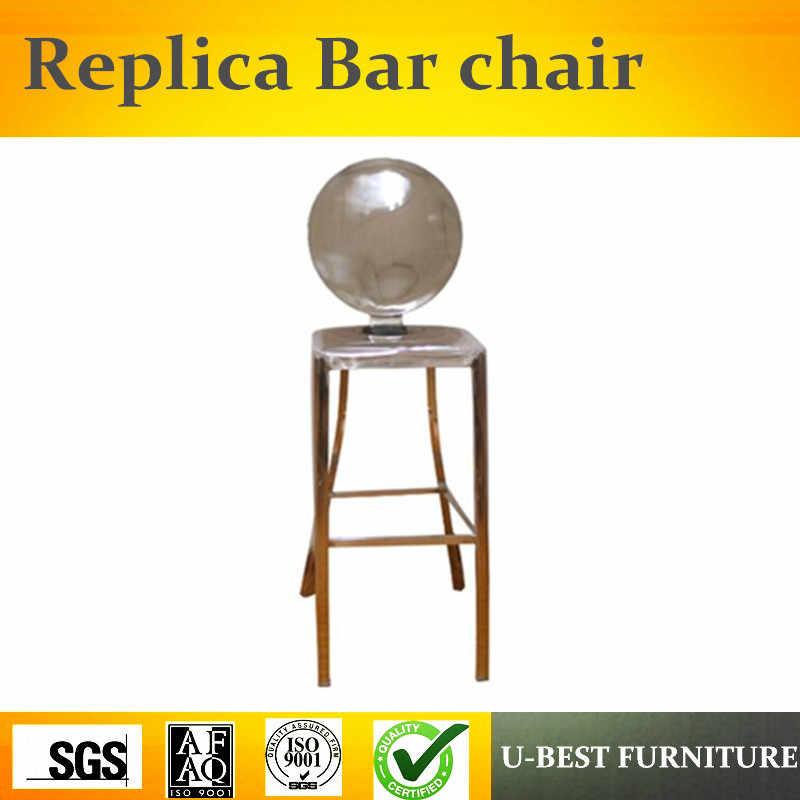 U-BEST frete grátis Designer De Mobiliário Réplica Kong Banqueta De Aço Inoxidável, armação de metal moderno fácil escovado cadeira de bar