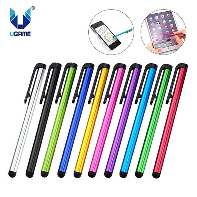 10 pçs/lote Capacitive Touch Screen Stylus Pen Para iPhone Samsung Xiaomi Para IPad Tablet PC Universal Telefone Inteligente