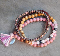 2017 ДЖЕК ТУ Родохрозит смешанная набор браслет обруча новый год подарок