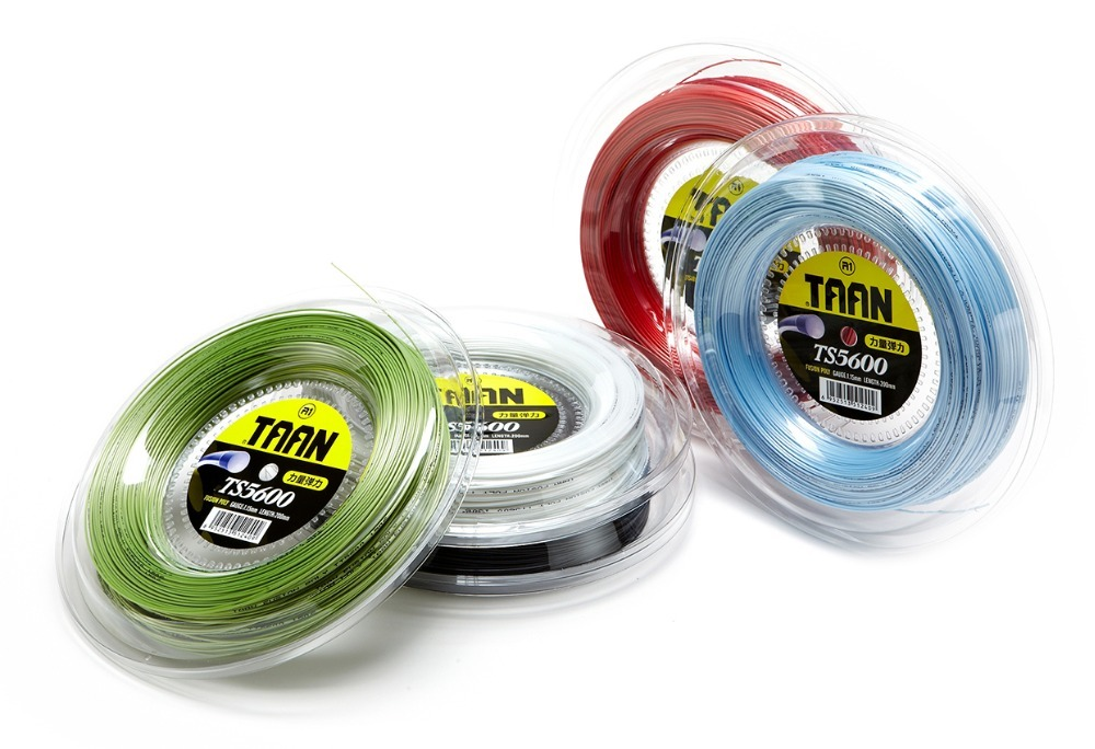 1 Reel TAAN TS5600 Power polyester hard-line strings Tennis strings 1.15mm tennis racket string 200M big banger new replacement 200m reel racquet tennis string power rough 1 25mm tennis racket string promotion soft nylon tennis racket line