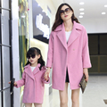 Matching Mother Daughter Clothes wool coat Family Look Family Matching Clothes Parent-child Outfit women wool coat