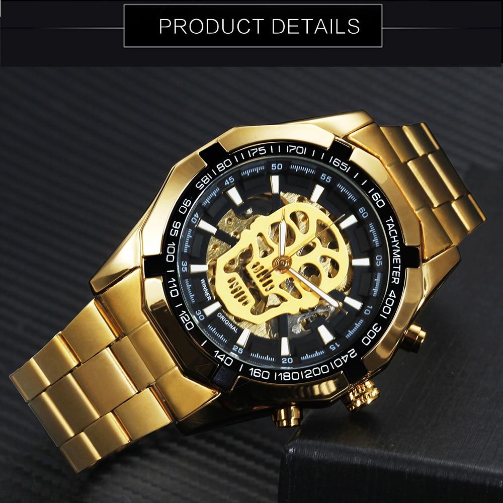 HTB1bbDIrH1YBuNjSszhq6AUsFXaK WINNER New Fashion Mechanical Watch Men Skull Design Top Brand Luxury Golden Stainless Steel Strap Skeleton Man Auto Wrist Watch