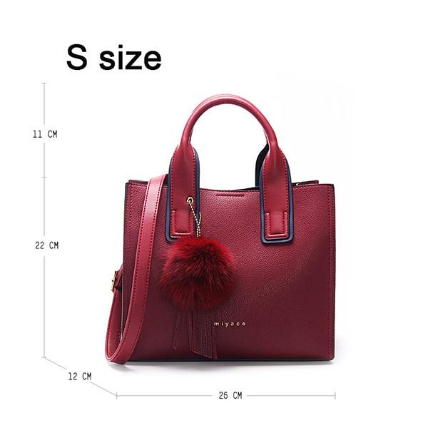 Miyaco Women Leather Handbags Casual Brown Tote Bags