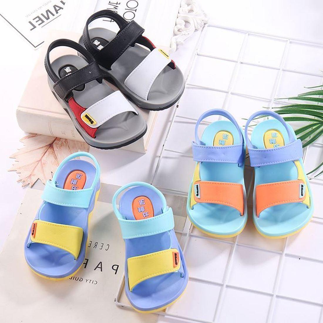Anne ve Çocuk'ten Sandaletler'de Yaz sandalet kore versiyonu yumuşak alt aşınmaya dayanıklı kız çocuk ayakkabısı çocuk sandaletleri erkek/kız rahat anti skid plaj ayakkabısı title=