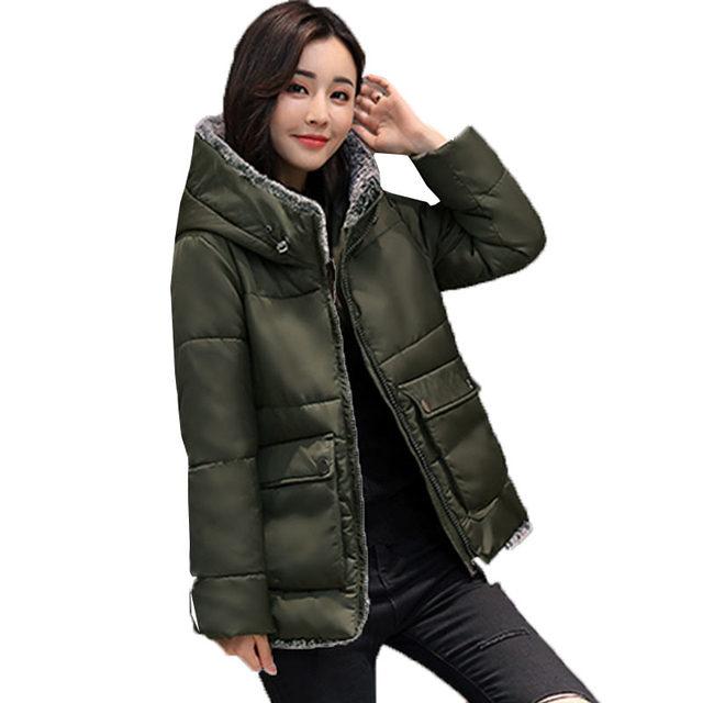 Для женщин Большие размеры Подпушка хлопковая куртка 2017 зимняя теплая шерсть женские пальто Мужские парки Повседневное толще меховой воротник дамы ватные Украина 116