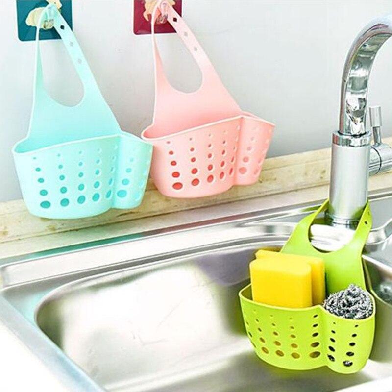 Kitchen Accessories Organizer Sink Shelf Soap Sponge Drain Rack Kitchen Holder Sink Shelf Drainer Kitchen Stuff Storage