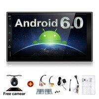 Quad 4 Core 7 INCH 2 Din Android 6 0 Car Audio Non DVD Stereo Radio