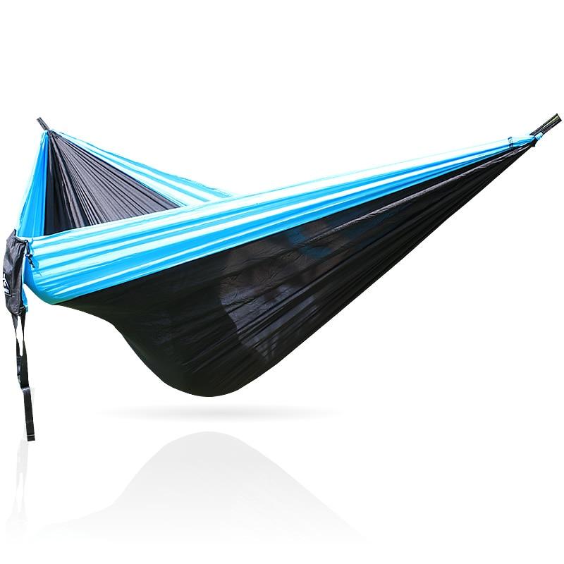 Blue Black Blue 210T Camping Nylon Hammock Hamac 300*200cm 300cm