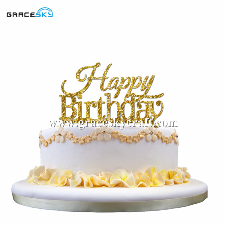 Cake Pictures Birthday Free : Aliexpress.com : Buy Free Shipping New Acrylic silver gold ...