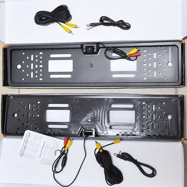2HD ЕС ВЕЛИКОБРИТАНИЯ Европейский Авто номерной знак Тег рамка и заднего вида парковка резервная камера ночного видения водонепроницаемый DVD TV кабели