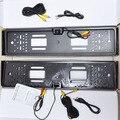 2HD UE REINO UNIDO Europeia Auto Car license plate Tag Número Frame & rear view backup de estacionamento câmera night vision impermeável DVD TV cabos