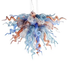New Arrival Hand Blown Glass Chandelier Tiffany Style Flower Design for Home Decor