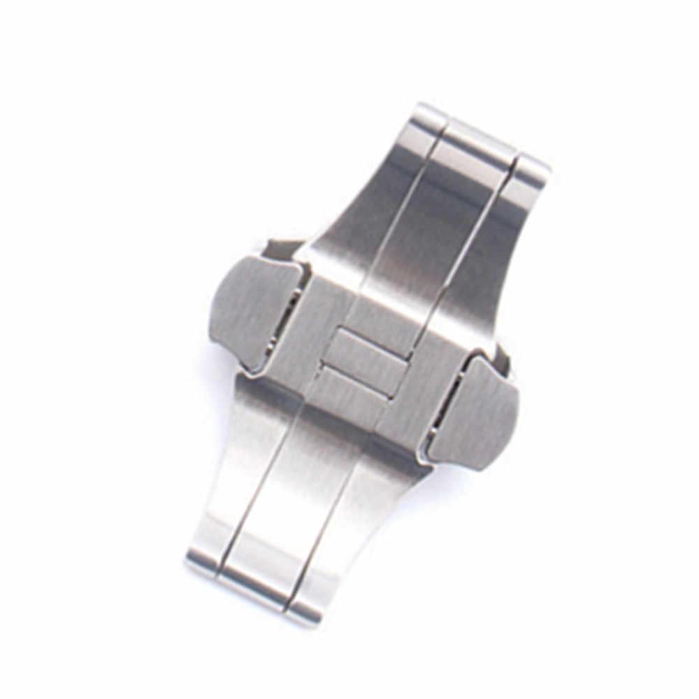 Pasek do zegarków 20mm 22mm nowy wysokiej jakości szczotkowanego stałe ze stali nierdzewnej pasek zegarka rozmieszczenie zapięcie pasek pas klamrami dla PAM