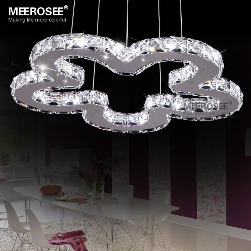 led crystal diamond lighting pendants flower shape modern lamp cristal pendelleuchte suspension. Black Bedroom Furniture Sets. Home Design Ideas