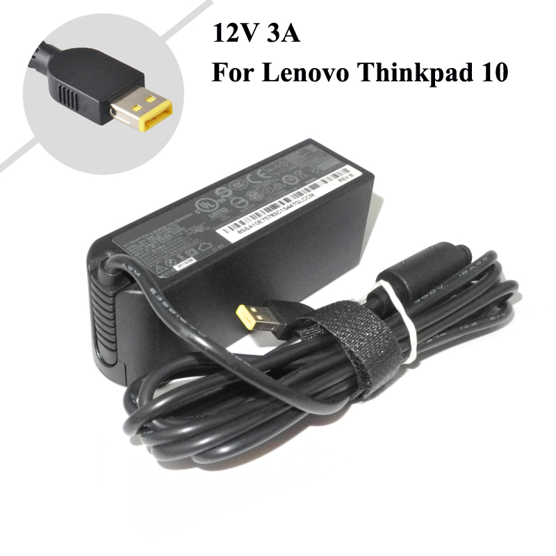12 V 3A 36 W Tablet Oplader Voor Lenovo ThinkPad 10 ADLX36NDT2A 4X20E75066 TP00064A Laptop AC Adapter Oplader Gratis verzending