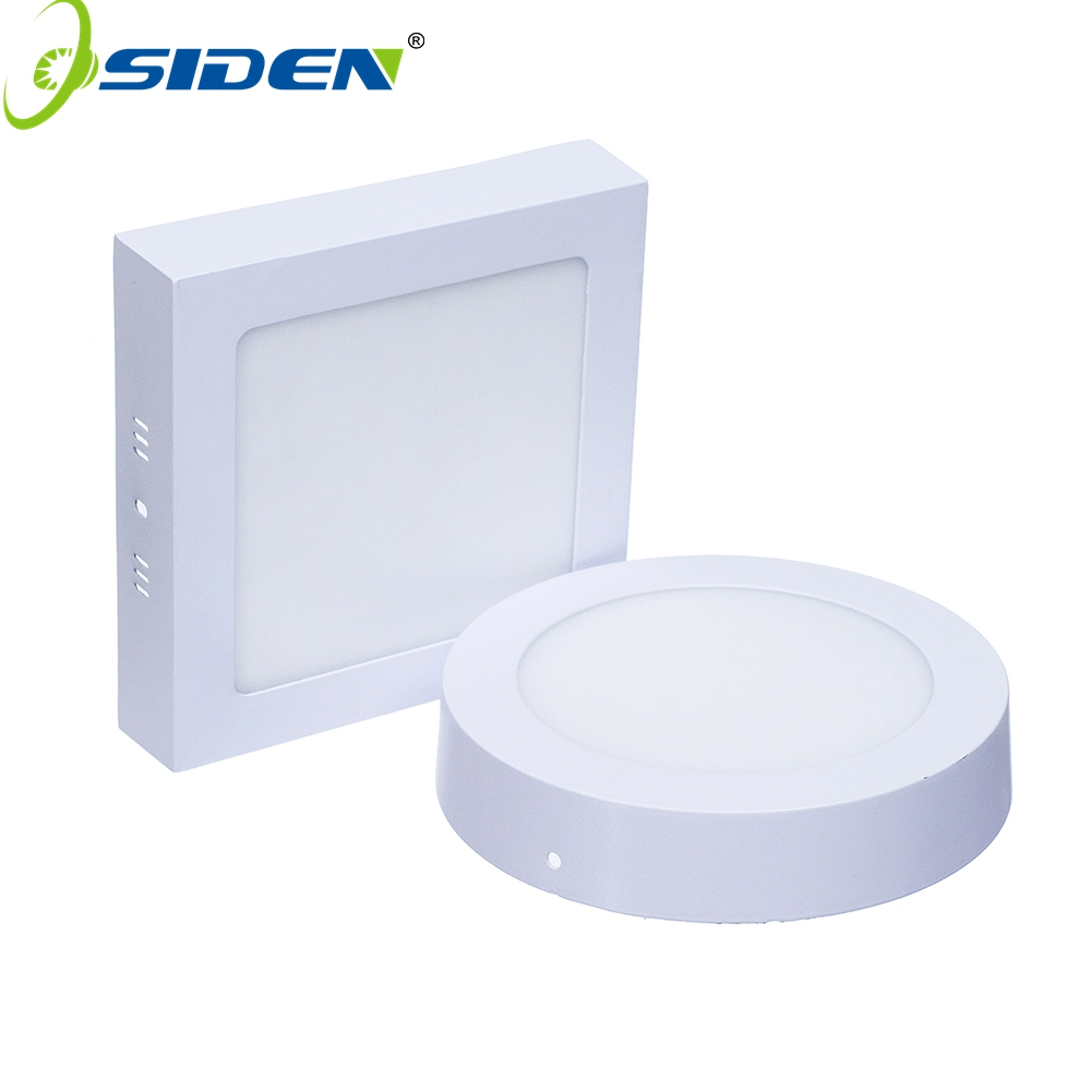 OSIDEN AC85-265V LED Panel Light 6W 12W 18W Surface Mounted Square LED Ceiling Lights Round Square LED Downlight 2835SMD