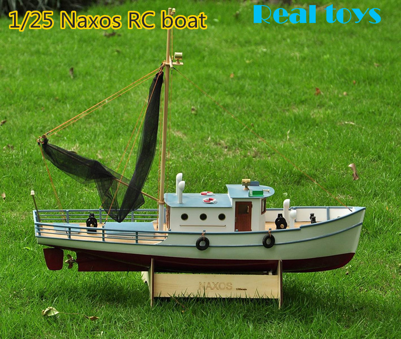 Us 1350 10 Offrealts Classic Fishing Boat Model Scale 125 Naxos Rc Fishing Ship Remote Control Wood Boat Model Kit In Model Building Kits From