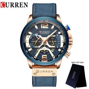 Image 4 - CURREN แบรนด์หรูผู้ชายกีฬาทหารนาฬิกาผู้ชายนาฬิกาควอตซ์นาฬิกาหนังกันน้ำวันที่นาฬิกาข้อมือ relogio masculino 8329