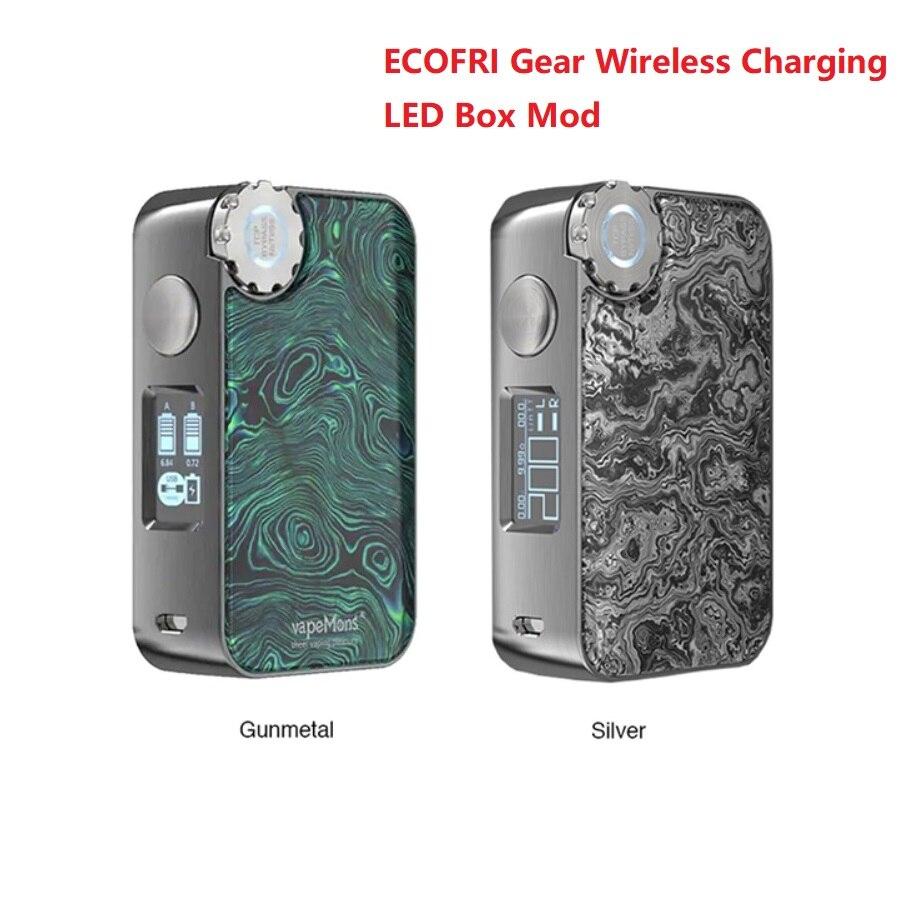 NEW Heavengifts ECOFRI Gear Wireless Charging LED Box Mod Support 18650 Battery E cig Vape Mod