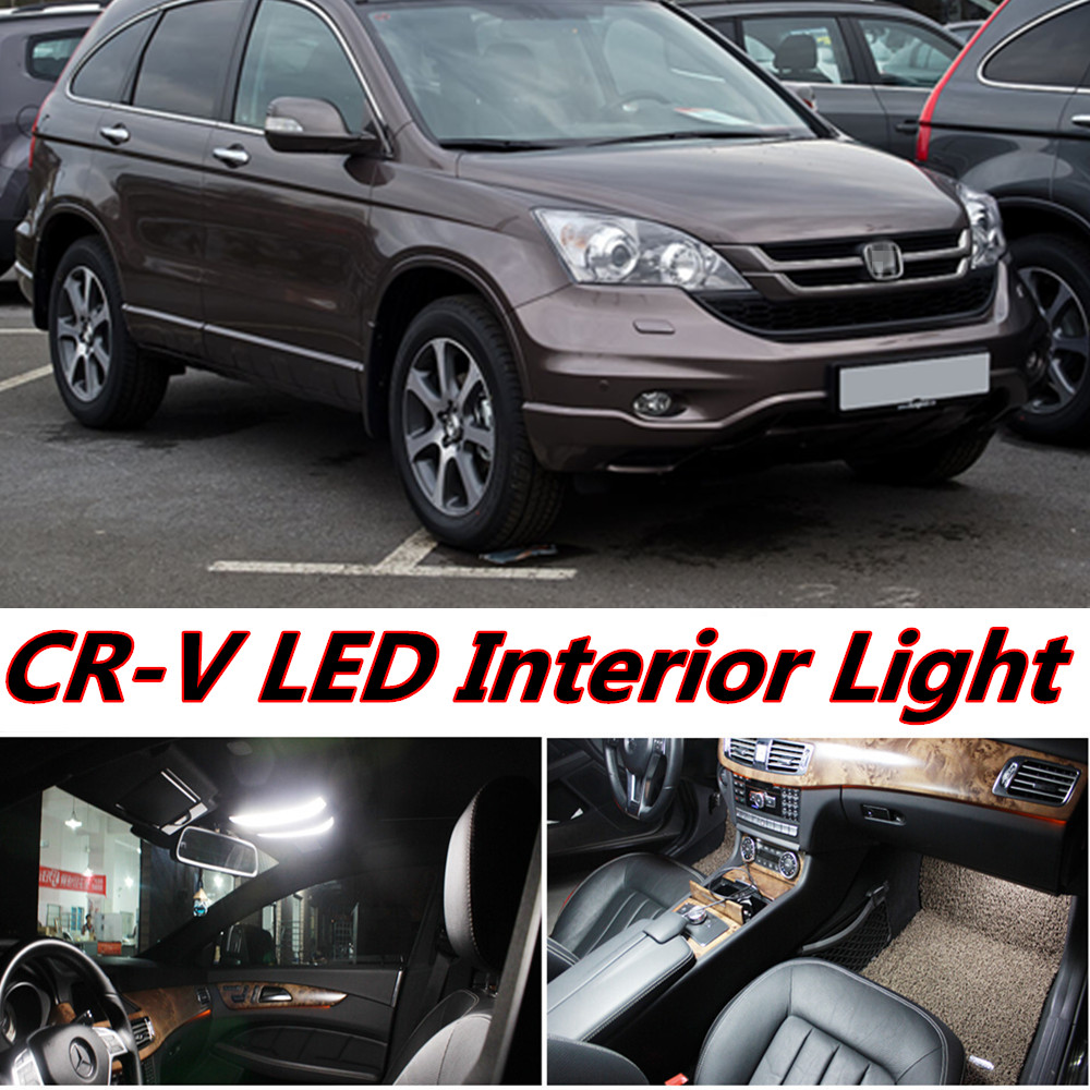 4pcs X free shipping Error Free LED Interior Light Kit Package for honda crv cr-v accessories 2007-2011 free shipping new arrival 35pcs pack 2m pcs led aluminum profile for led strips with milky or transparent cover and accessories